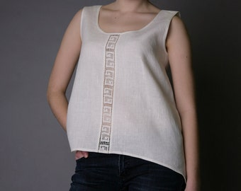 Pure Linen Top Laced - Antiq Collection
