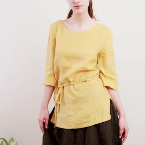 Linen Blouse Oversize Linen Shirt With Wide Sleeves Linen Tank Linen Top Eco Friendly