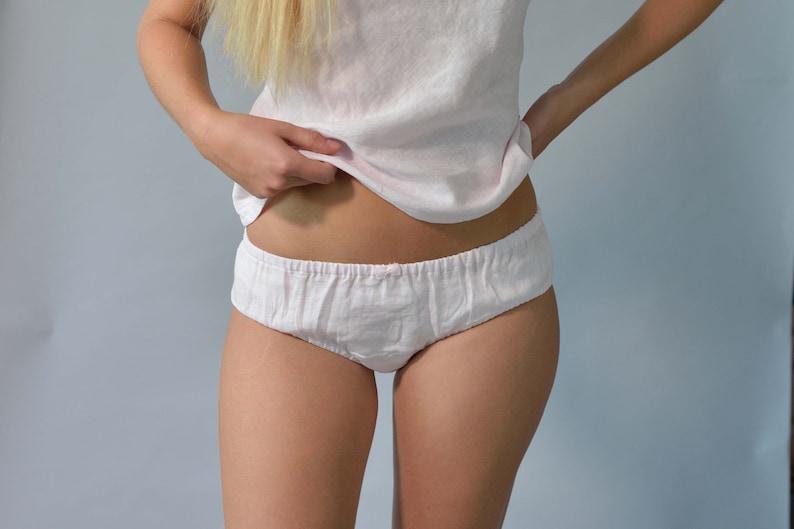 Linen Organic PantiesLinen Knickers For WomenLinen UnderwearFlax Lingerie Pure Linen Intimates Linen Undies Linen Lingerie