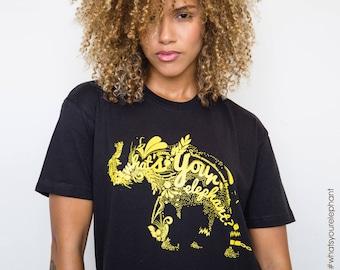 What's Your Elephant  T-Shirt, Unisex Arts Activist Movement Clothing 100% Cotton