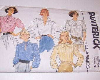 Vintage Butterick 1985 Uncut Classics Misses Blouse Sizes 18 20 22 Pattern Number 3240 - Sewing Supply