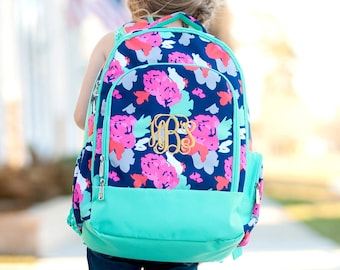 6c929f411c Personalized Backpack for Girls ~ Amelia Backpack ~ FREE personalization ~  Monogrammed Book Bag ~ Monogrammed Backpack ~ Floral Back Pack