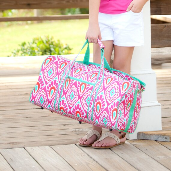 1b984a86ed65 Personalized Duffel Bag Girls Monogrammed Travel Bag