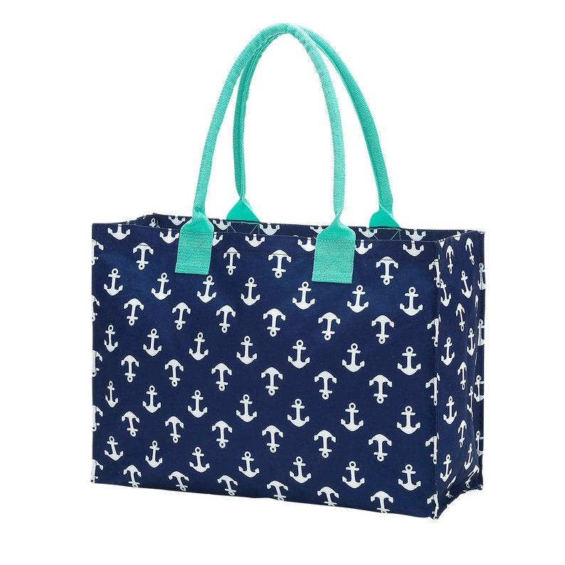 Monogrammed Tote Bag ~ Anchors Bag ~ Personalized Anchor Tote Bag ~ Monogram Bag ~ Navy /& White ~ Bridal Party Gift ~ Sorority Gift