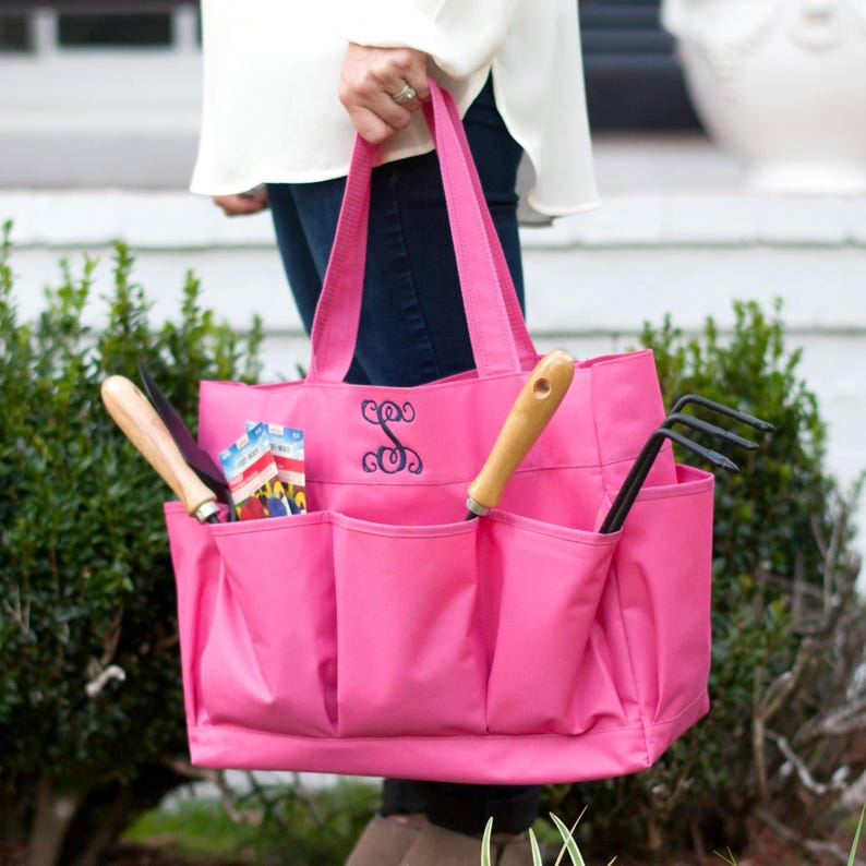Monogram Teacher Gift ~ Personalized Large Carry All Tote Bag ~ Monogrammed Craft Caddy ~ Monogrammed Tote ~ Essential Carry All ~ 4 colors!