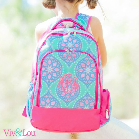 dfba6598d117 Personalized Girls Backpack Monogrammed Backpack for Girls