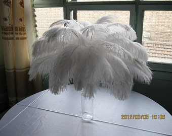 400pcs 10-12inch White ostrich feathers,wedding table decoration,wedding table centerpiece,ostrich centerpiece,ostrich feather centerpiece