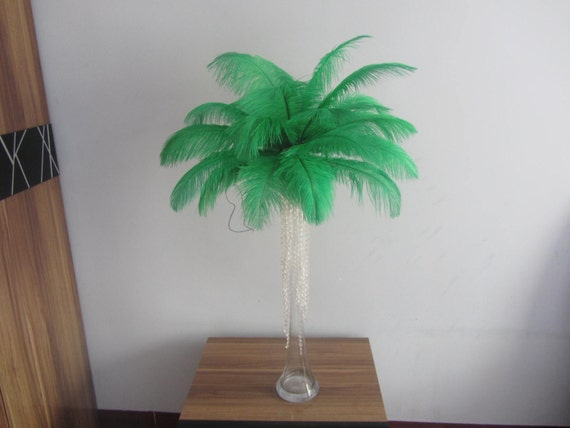 Pcs green forest ostrich feather for wedding