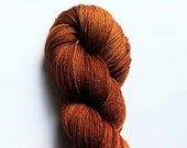 Chestnut: hand dyed tonal Merino sock yarn by Star Fiber Studio