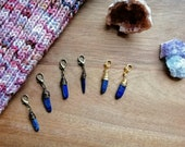 Lapis Lazuli: wire wrapped progress keeper by Star Fiber Studio
