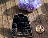 Black Sweater: Enamel Pin...