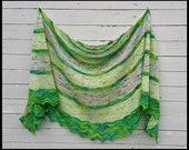 Pattern: Punkte a written PDF File pattern from Star Fiber Studio for a crescent shaped shawl