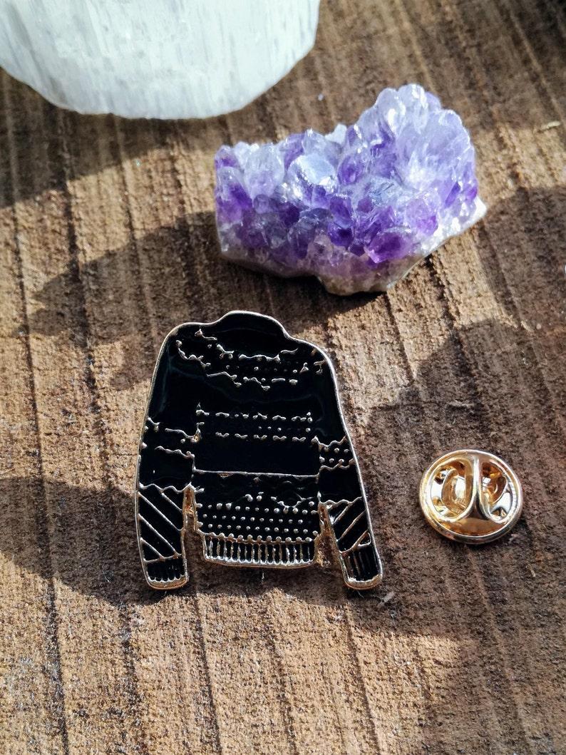 Black Sweater: Enamel Pin by Star Fiber Studio image 0