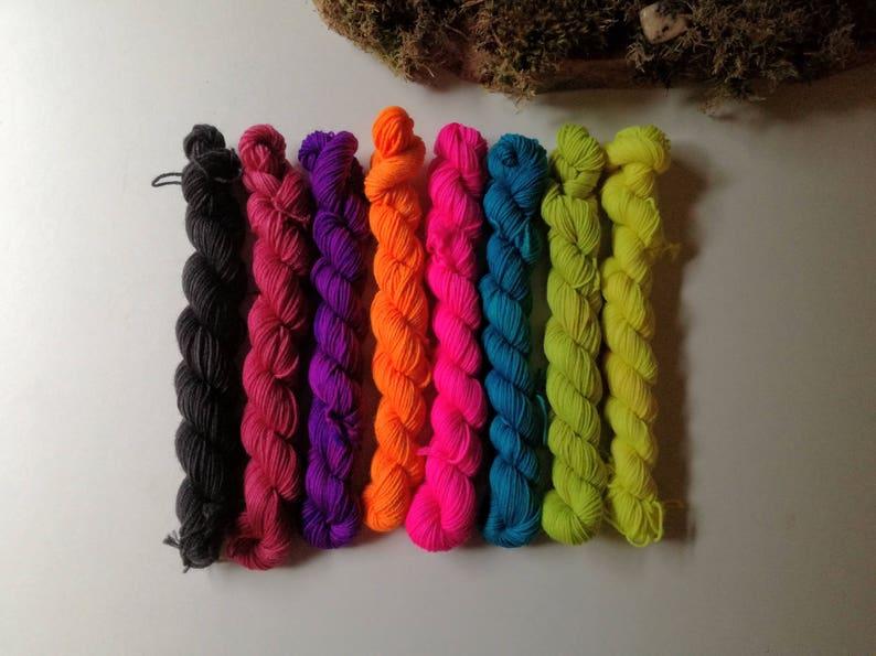 Mini Stars hand dyed semi solid Merino sock yarn by Star Fiber image 0
