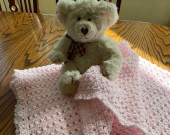 Crochet Baby Afghan Pattern, Baby Blanket Pattern, Pink Baby Afghan, Baby Afghan Pattern,  Crochet Baby Afghan Pattern, Blanket Pattern,