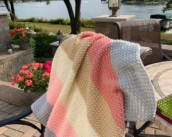 Easy Crochet Baby Blanket Pattern, Baby Blanket Pattern, Baby Afghan Pattern, Crochet Blanket Pattern, Beginner Crochet Pattern, Pattern PDF