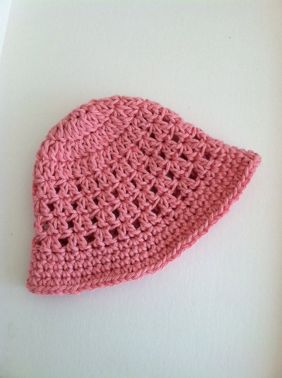 Häkeln Sie Staubige Rose Sonnenhut Babymütze Neugeborenen Etsy