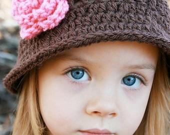 CRoChet PAtTerN, Crochet Hat Pattern, Instant Download, Julia Hat Pattern, Pattern Crochet Hat, Crochet Child Hat Pattern