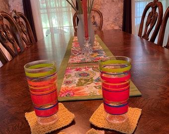 Crochet Coaster Pattern, Crochet Pattern, Crochet Coasters, Autumn Crochet Patterns, Fall Crochet Patterns, Fall Coasters, Autumn Patterns