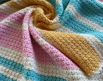 Crochet Baby Afghan Pattern, Baby Blanket Pattern, Pastel Baby Afghan, Baby Afghan Pattern,  Crochet Baby Afghan Pattern, Blanket Pattern