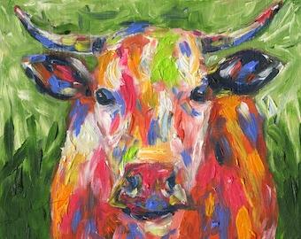 MOO! - Original Oil Painting
