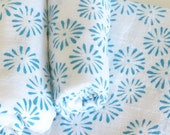 Flour Sack Dish Towel - Daisies: Turquoise