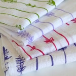 Flour Sack Dish Towel - Lavender Sprigs:  Lilac or Green or Purple