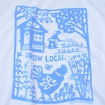 Flour Sack Dish Towel - Grow Local, Sky Blue or Squash