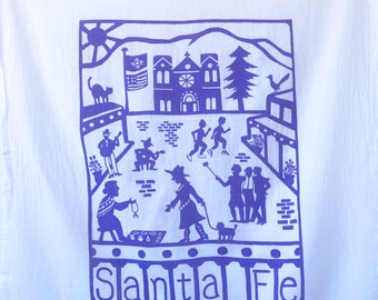 Flour Sack Dish Towel - Santa Fe: Purple or Orange