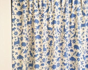 mlphelps1019 - CUSTOM ORDER  - 4 Yards Handprinted Linen/Cotton BLUE Fabric Otomi Print