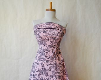 1970s LULU K Strapless Sundress Size Xs-Small AS-IS