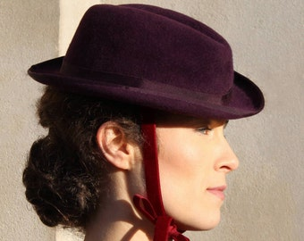 The Adaeze Trilby w/ Hand Finished Grosgrain Curled Brim - Occasion Hat