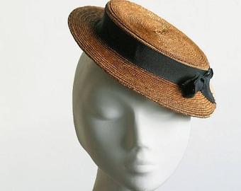 Il cappello di Monroe - cappello di paglia Boater bf351eb1041a