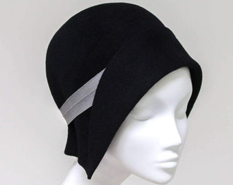 The Jeanne Hat - Black Cloche - Made to Measure