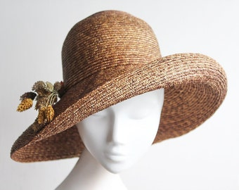 adde801a1a0ad The Mona Lisa Hat - Straw Cloche Hat - Wide Brimmed Hat - Wedding Guest -  Mother of the Bride - Kentucky Derby Hat - Royal Ascot Hat