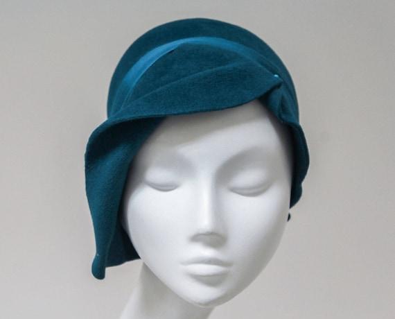 Cappello Cloche Rivé cappello di feltro grigio verde  4d795ba5b09a