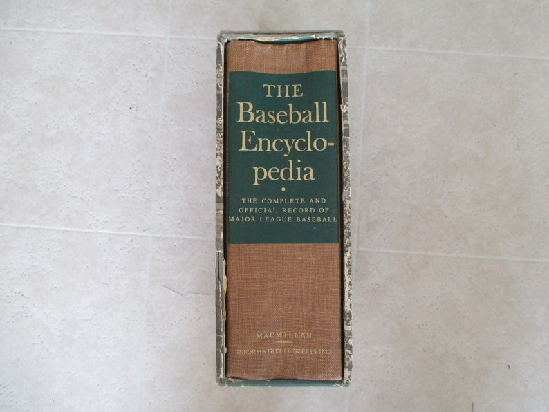 The Baseball Encyclopedia 1965 hard cover book with slide image 0