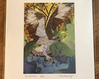 "Osprey Fine Art Collage Print 8.5""x11"""