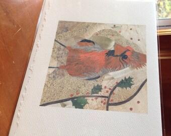 "Cardinal Fine Art Card Collage Print 5""x7"""