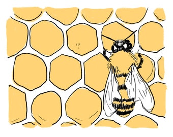 My Little Bumblebee Print
