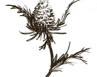 Digital Thistle Illustration
