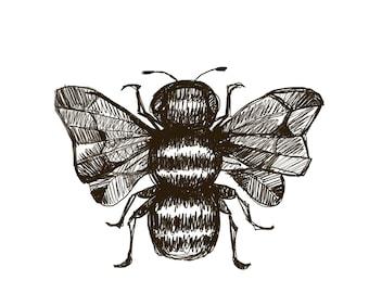 Digital Bee Illustration