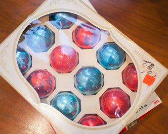 24 Vintage Christmas Ornaments in Shiny Brite boxes