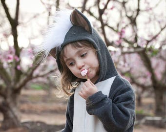 Skunk Costume, Skunk suit, Animal Costume, kids gift