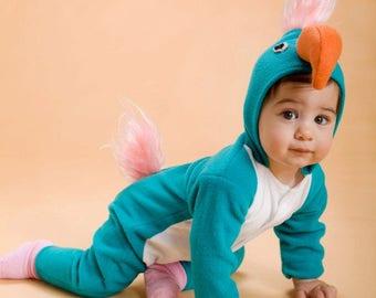Halloween Baby Parrot Costume/ Baby Parrot dress up/ Baby costume/ christmas gift/ Baby Photo Prop/ Baby Onesie/ Blue Bird Costume