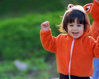 Fox Hoodie, Kids Hoodie, Little Mr Fox, dress up, christmas gift