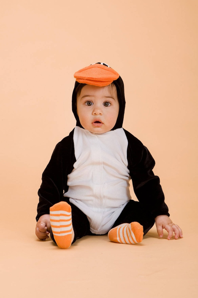 Penguin Baby Costume/ Baby Christmas gift/ Personalized baby image 0