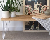 Handcrafted Solid Wood Coffee Table Bench Side Table - Introductory Offer for a Limited Period Only