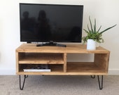 Handcrafted Solid Wood Rustic Chunky TV Table Bench Coffee Table
