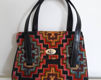 d70a21a614ef Vintage Purse Chenille Carpet Handbag